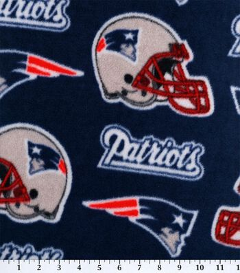 New England Patriots Fleece Fabric 58''-Logo