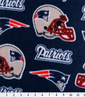 "New England Patriots Fleece Fabric 58""-Logo"