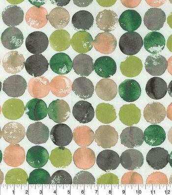 Waverly Upholstery Fabric 54''-Quartz Watercolor Circles