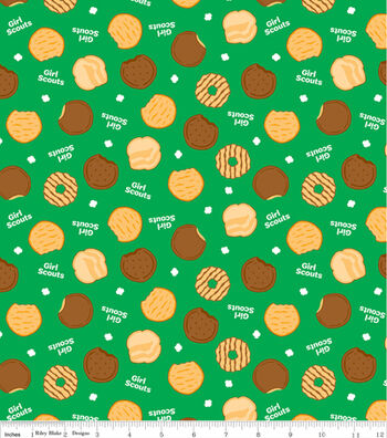 "Girl Scout Cotton Fabric 43""-Cookies"