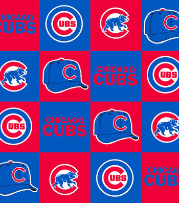 Chicago Cubs Fleece Fabric 58''-Block