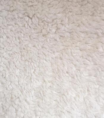 Luxury Faux Fur Sherpa Fabric 58''-Ivory
