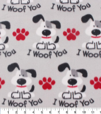 Blizzard Fleece Fabric 59''-I Woof You