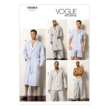 Vogue Patterns Mens Sleep & Lounge-V8964